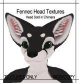 [Caek!] Fennec for Paws Fennec Head - Black