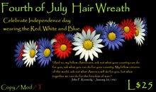 Fourth of July Patriotic Daisy Wreath by sami
