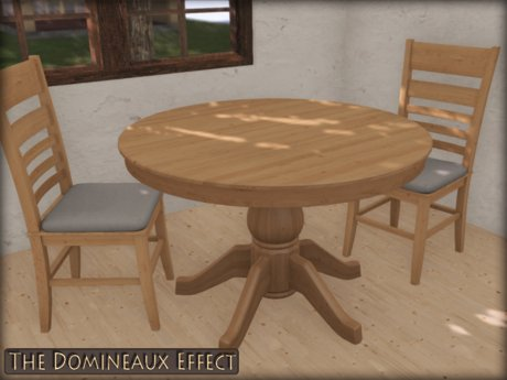 Second Life Marketplace Dining Set