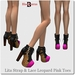 Blackburns Lita Strap & Lace Leopard Pink Toe Ankle Boots