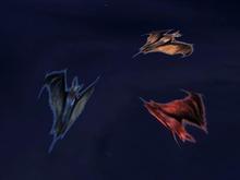 3 Flying Bats