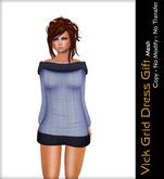 - Quintessencia - Vick Grid Gift Dress Mesh -