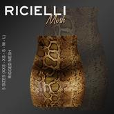 Ricielli Mesh - highwaisted mini skirt /python
