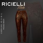 Ricielli Mesh - Leather Highwaisted skinny snake