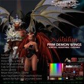 Sinful Needs Nihilim Prim Demon Wings, Dragon Wings, Devil Wings