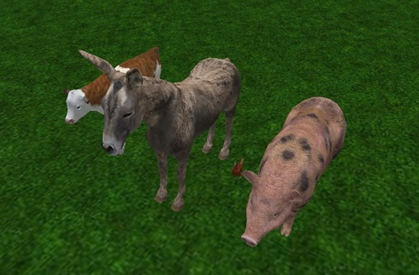 FPM - Full Perm Mesh - Funny Farm Animals!
