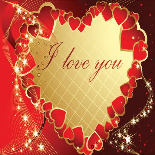 second life marketplace  i love you greeting card