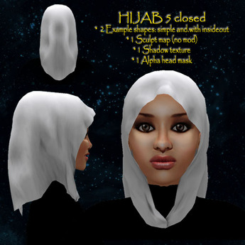 Hijab model 5 closed