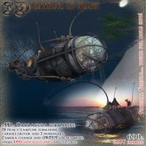 """~JD~ """"Steam Barracuda"""" sculpted submarine for 3 persons (Group use option!)"""