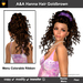 A&A Hanna Hair Goldbrown, curly half-updo with menu colorable Ribbon. Marketplace special color.