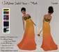 ! Jellybean Isabel Gown - Sunset - Mesh