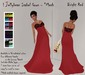 ! Jellybean Isabel Gown - Bright Red - Mesh