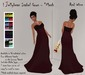! Jellybean Isabel Gown - Red Wine - Mesh