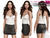 Full Perm Classic Rigged Mesh Mini Black Skirt