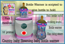*** Country baby pink baby bottle warmer