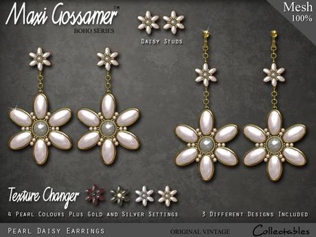 Earrings - Pearl Daisies