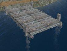 Rustic Wooden Boat Dock, Pier, or Deck (MC)
