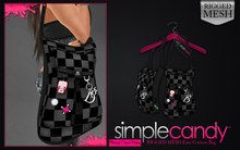 SimpleCandy - MESH Knitted Emo Couture Bag [Grey]