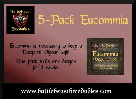 BattleBeast Breedables-Eucommia Food 5-Pack v2.0b (MP)