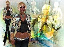 PROMO - ALB ALYSSA leather jacket MESH - AnaLee Balut - ALB DREAM FASHION