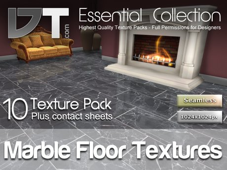 10 Marble Floor Tile Textures - Full Perm - DT Essential Collection