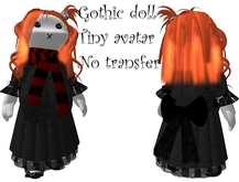tiny goth avatar girl