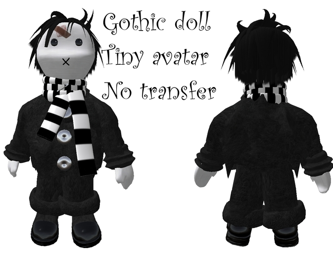tiny goth avatar boy