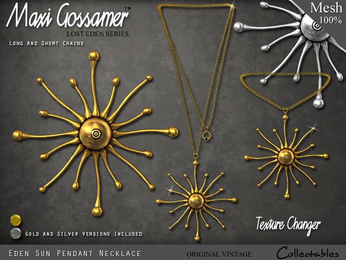 Necklace - Lost Eden Sun Pendant