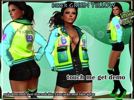 ..::Knockout!..::Coat mesh green yellow