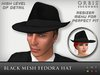 Black Fedora Hat - Mesh