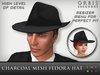 Charcoal Fedora Hat - Mesh
