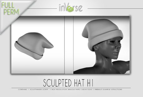 Sculpted hat H1 full perm for cloth designers