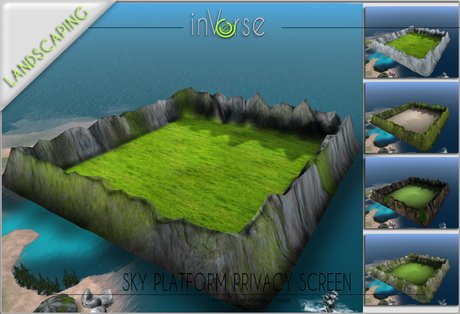 inVerse® -Sky platform  resizable, 5 different textures