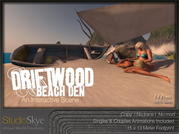 NEW+ Driftwood Beach Den from Studio Skye 100% MESH