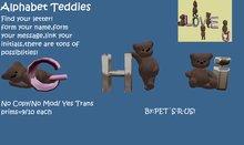 Alphabet teddies-G