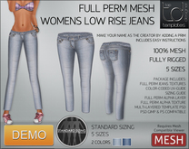 -TD- TEMPLATES - Womens MESH Low Rise Jeans DEMO
