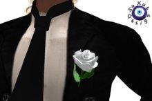 [su] dumping - Wedding Groom Boutonniere Rose Resize White