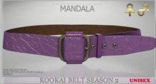 unisex [MANDALA]Kookai belt -season 2/PURPLE(wear me to unpack