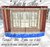 *Lilja by Alva* Curtains1, White, moving in the wind, Freebie