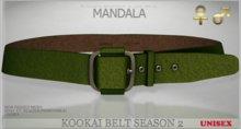 unisex[MANDALA]Kookai belt -season 2/ GREEN(wear me to unpack