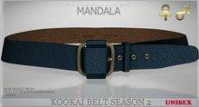 Unisex[MANDALA]Kookai belt -season 2/ NAVY(wear me to unpack