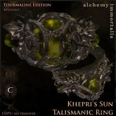 """Khepri's Sun"" Talismanic Ring - Tourmaline [COPY/no transfer] (WAS $375 -> NOW ONLY $95!)"