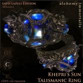 """Khepri's Sun"" Talismanic Ring - Lapis Lazuli [COPY/no transfer]"