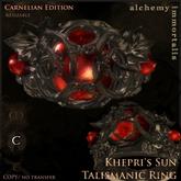 """Khepri's Sun"" Talismanic Ring - Carnelian [COPY/no transfer]"