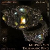 """Khepri's Sun"" Talismanic Ring - Jasper [COPY/no transfer] (WAS $375 -> NOW ONLY $95!)"