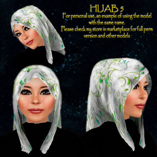 Hijab model 5 for personal use