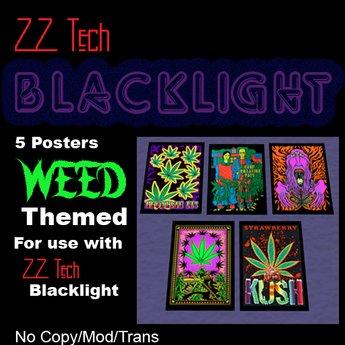 ZZ Tech Blacklight Poster Box - Weed