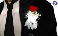[su] dumping - Wedding Diamonds Groom Boutonniere Red Rose Resize