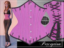 *Perception* Underbust Corset -- Pink Coutil