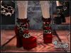 """Elegant Dolly"" Pumps with Lace Socks (RED)"